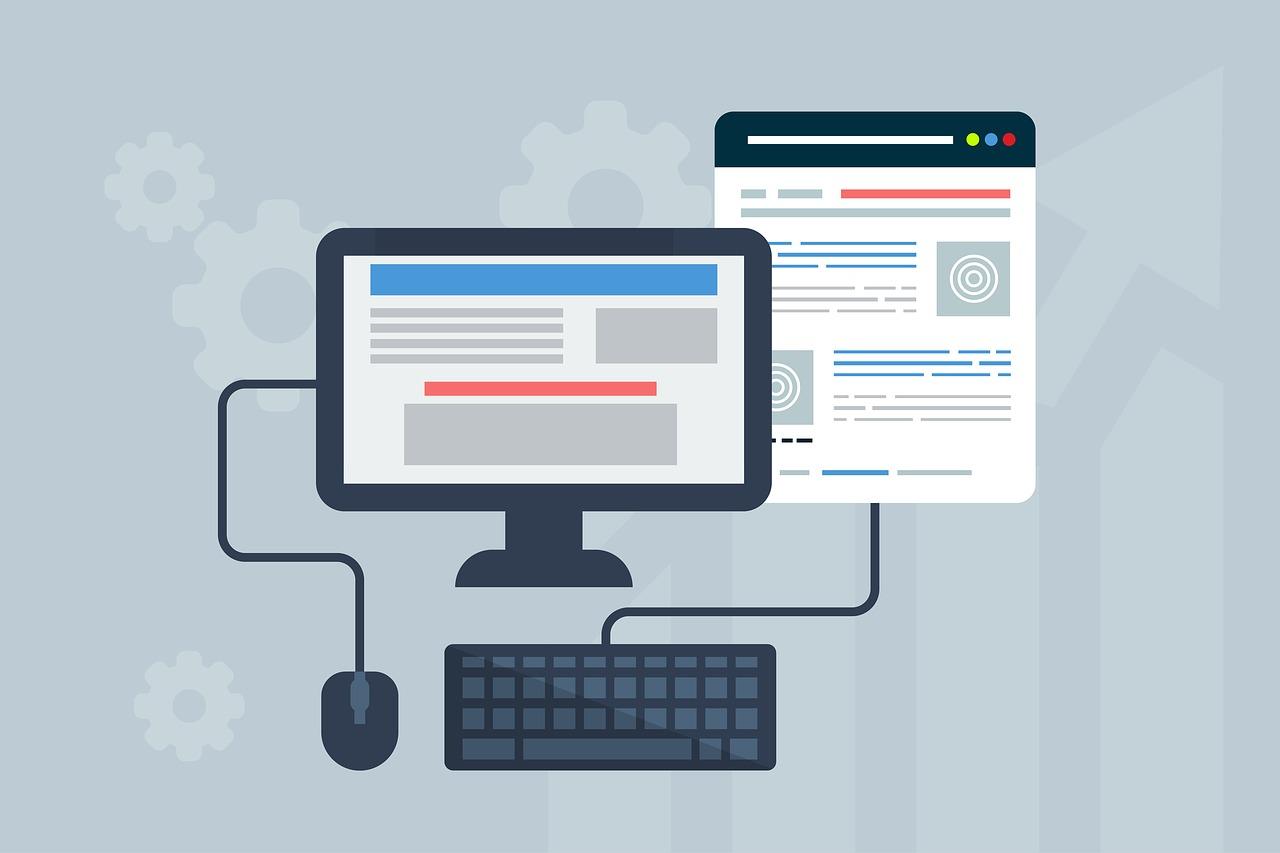 Website Aufbau Desktop Mobile